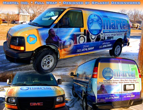 Martel Inc Delaware vehicle wrap graphics