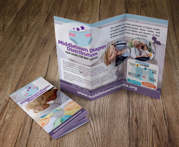 Middletown Diaper Distribution Trifold Brochures