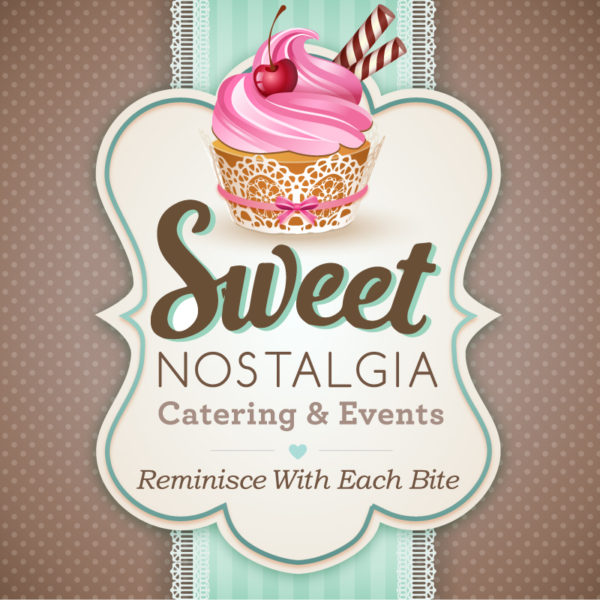 Sweet Nostalgia Catering Business Branded Logo Design
