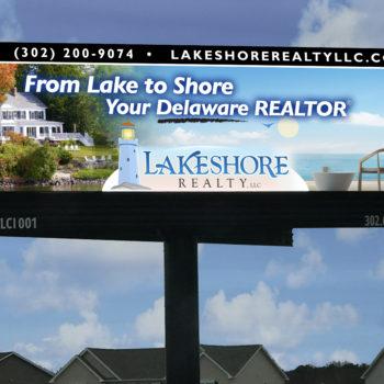 Lakeshore Realty Billboard Design Milford Delaware