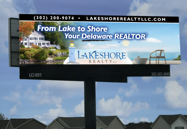 Lakeshore Realty Billboard Design Milford Delaware