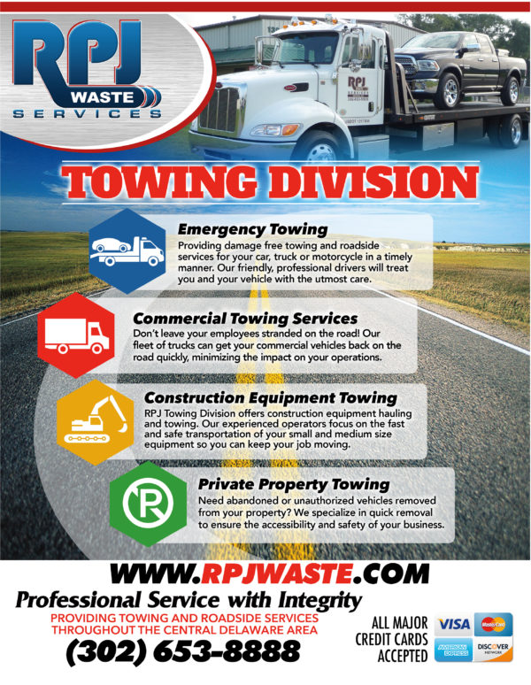 RPJ Waste Services Towing Division Flyer